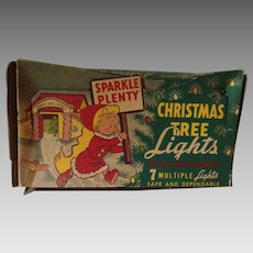 Early 1950's Sparkle Plenty Christmas Tree Lights