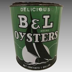 B & L Oyster Tin, one gallon size