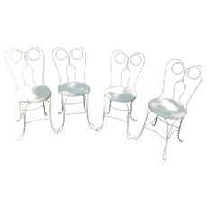 Set of 4 Spectacle Back Ice Cream Parlor Chairs