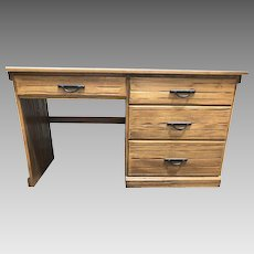 A. Brandt Ranch Oak Four-Drawer Desk