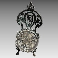 Rococo 19th Century Cast Iron Side Chair