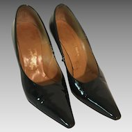 1950s Navy Patent Leather Stilettos by Bare Foot Originals 5 1/2 B