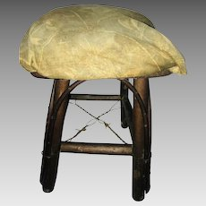 Willow Work Adirondack Style Foot Stool