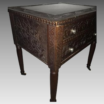 Aesthetic Movement Anglo-Japanese Decorated Table