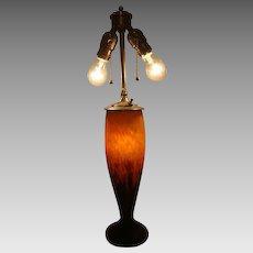 "Daum Frères table lamp signed ""Maud.""  CIRCA: 1920"