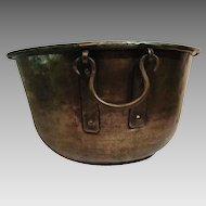Antique Copper Kettle; Hand Hammered with Dovetailing