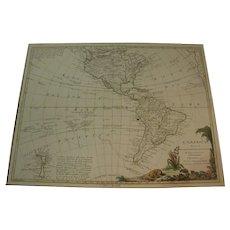 Antonio Zatta's 1776 Western Hemisphere of the America's Map.