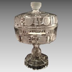 "U.S. Frosted Coin Covered 7"" Pedestal Compote"
