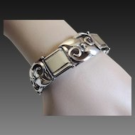 Stunning Stylized Sterling Bracelet Denmark