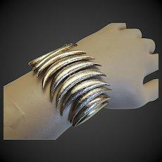 John Iversen Sterling Bracelet Gold Wash c1980's