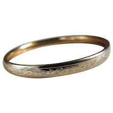 Baby Bracelet Edwardian Gold Filled Bangle
