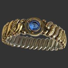 Baby Bracelet Art Deco Sweetheart Gold-Filled Expansion Stretch Bracelet c1940's