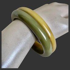 Bakelite Bracelet Two Tone Laminated c1940's