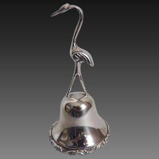 Sterling Silver Bell Flamingo Hand Crafted Mexico Hallmarked