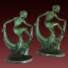 Bookends Art Deco Dancing Ladies c1920's