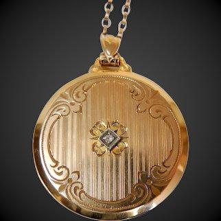 Art Nouveau Locket Gold Filled c1920's