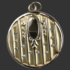 Art Deco Locket Gold Filled c1940's DD791N