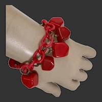 Bakelite Bracelet Art Deco Chunky Drops c1940's