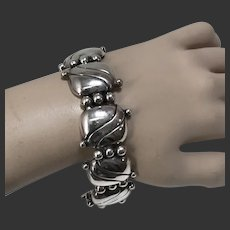 "William Spratling Sterling Silver ""Pillow"" Bracelet Mexico c1940's"