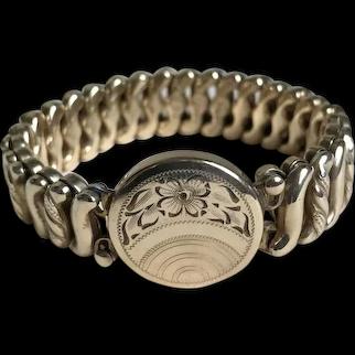 Sweetheart Bracelet Expansion Stretch World War 2 Gold-Filled c1940's