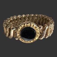 Sweetheart Bracelet Expansion Stretch World War II Gold-Filled c1940's