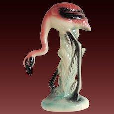 Flamingo Statue Figurine Ceramic Glazed by Maddux Mid-Century Modern c1950's