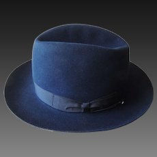 Borsalino Fedora COMO Fur Felt Hat Sz XL 7 7/8-8 1/2  Italy NWT