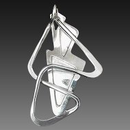 Modernist Sterling Pin Abstract Paul Voltaire