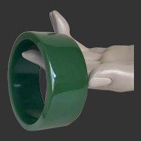 Bakelite Bangle Bracelet Emerald Green c1940's