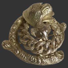 Victorian 14K Gold Pin Snake and Insect Design