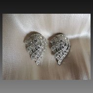 Art Deco Rhinestone Dress Clips Pair c1930's