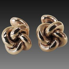 Edwardian Cufflinks 10 Karat Gold Knotted Design