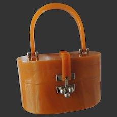 Lucite Purse Handbag Myles Original Miami Mid-Century Modern c1950's