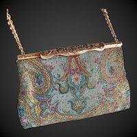 French Cut Steel Beaded Handbag Purse Art Deco c1930/40's