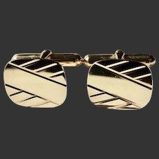 Cufflinks 10 Karat Gold Mid-Century Modern Design c1950's