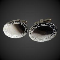 Cufflink Set Sterling Silver by Hayward c1990's