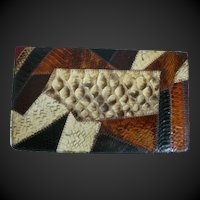 Caprice Vintage Snakeskin Clutch Bag Purse 1970's