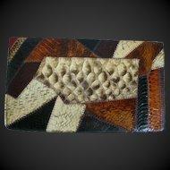 Caprice Vintage Snakeskin Clutch Bag Purse 1970's