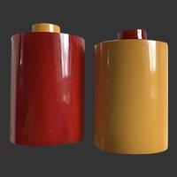 Bakelite Salt & Pepper Shakers Art Deco Half Moon S&P c1930's