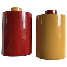 Bakelite Salt & Pepper Shakers Deco Rare x Large Size S&P c1930's