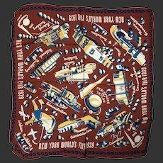 New York World's Fair Scarf c1939