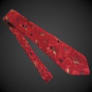 Vintage Tie Necktie Men's Italian Silk c1980's