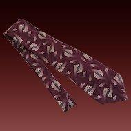 Alfani Tie Necktie Men's Italian Silk c1990's
