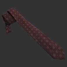 Vintage Patterned Tie Necktie c1950's
