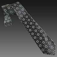Vintage Tie Necktie Silk Men's Abstract Design c1950's