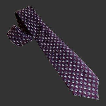Gucci Tie Necktie Italian Silk Vintage c1980's