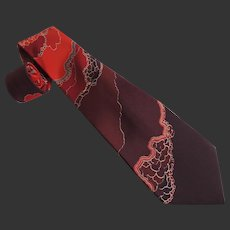 Silk Men's Tie Pancaldi & B Made in Italy c1990's