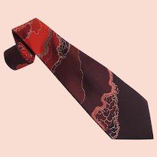 Silk Men's Tie Pancaldi & B Made in Italy c1990's