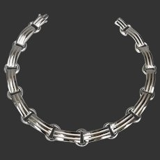 Tiffany & Co. Necklace Atlas Grooved Sterling c1990's