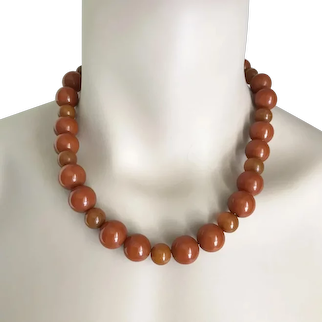 Bakelite Necklace Art Deco Chunky c1940's
